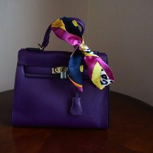 Teddy Black Inspired Purple Satchel Handbag PU